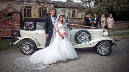 Wedding car St Catherines Church, Leconfield, East Yorkshire