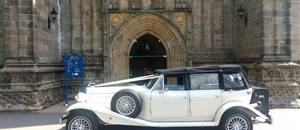 Beauford outside Bolton Priory