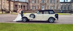 Wedding car at Castle Howard