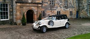 Wedding car at Newburgh Priory