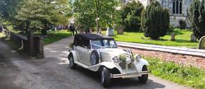 Wedding car at Huntington