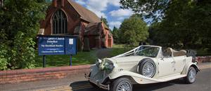 Wedding car in Swinefleet