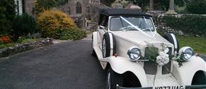 Wedding car at Linton, Grassington