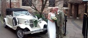 Wedding car Bedern Hall, York